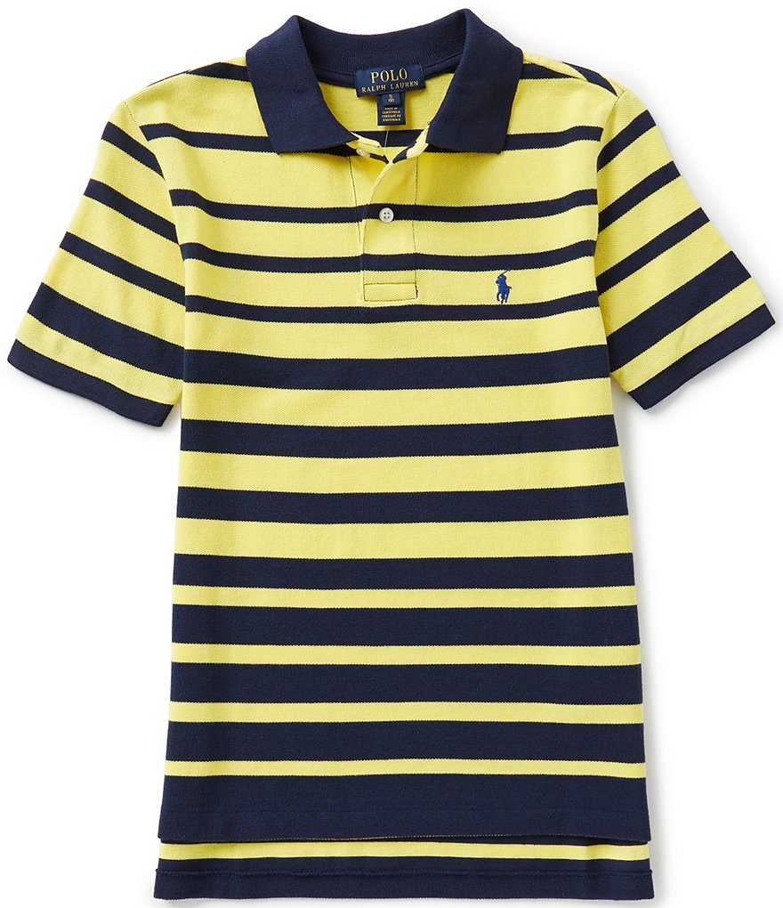 Ralph Lauren Childrenswear Big Boys 8-20 Ombre-Stripe Short-Sleeve Mesh Polo Shirt