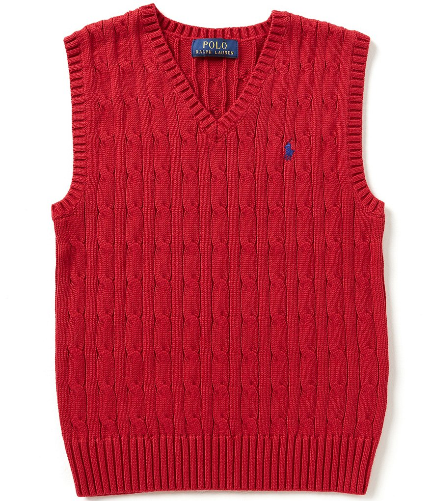 Ralph Lauren Childrenswear Big Boys 8-20 Cable-Knit Vest