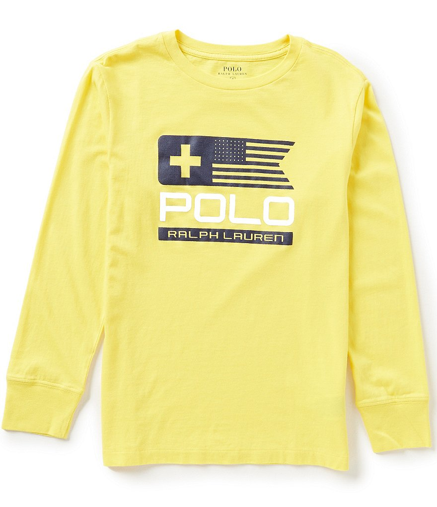 Ralph Lauren Childrenswear Big Boys 8-20 Sleek Graphic Long-Sleeve Jersey Tee