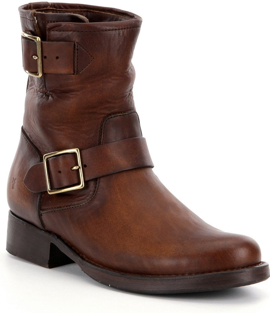 Frye Vicky Engineer Buckle Short Boots