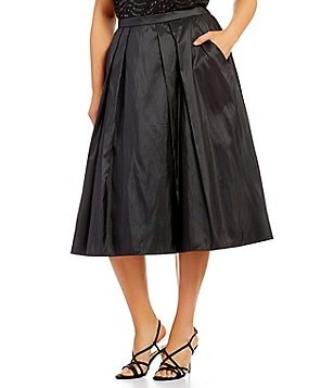 Alex Evenings Plus Tea-Length Party Skirt