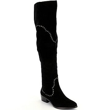 Frye Ray Grommet Suede Over The Knee Boots