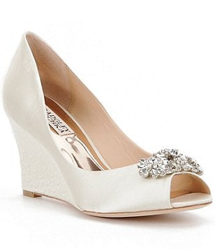Badgley Mischka Dara Peep Toe Wedges