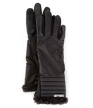 Lauren Ralph Lauren Quilted Touch-Capable Gloves with Faux-Fur Cuffs