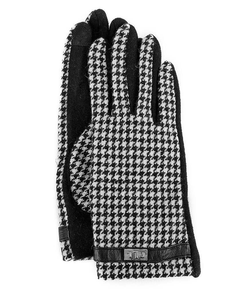 Lauren Ralph Lauren Houndstooth Touch-Capable Gloves