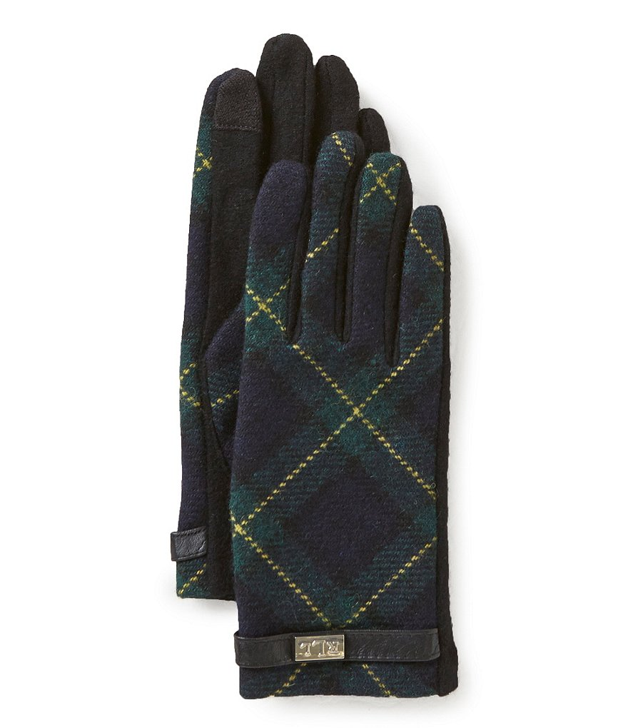 Lauren Ralph Lauren Tartan Touch-Capable Gloves