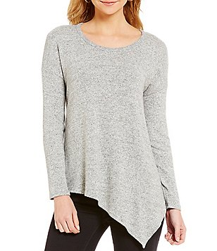 Soprano Long-Sleeve Asymmetrical Cozy Tunic