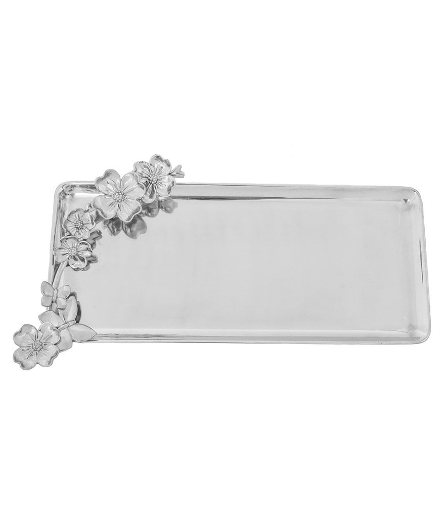 Arthur Court Dogwood Butterfly Oblong Tray