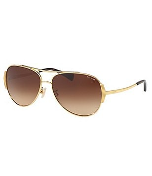 COACH IDOL RETRO AVIATOR SUNGLASSES