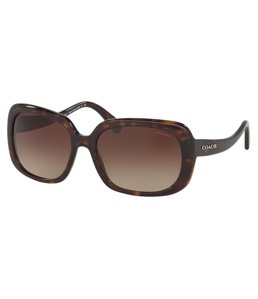 COACH IDOL RETRO SQUARE GRADIENT SUNGLASSES