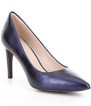 Cole Haan Amela Grand Metallic Leather Pointed-Toe Stiletto Pumps