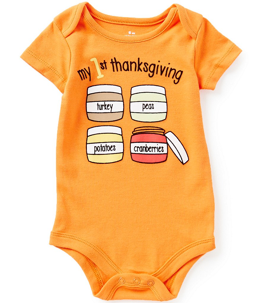 Baby Starters Babies With Attitude 3-12 Months My 1st Thanksgiving Bodysuit
