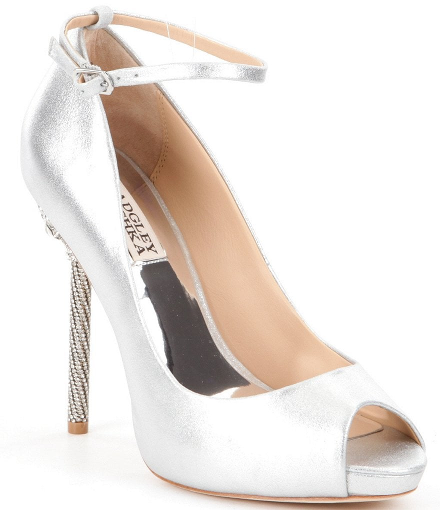 Badgley Mischka Diego II Peep Toe Pumps
