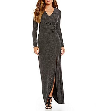 Vince Camuto Sparkle Knit Gown