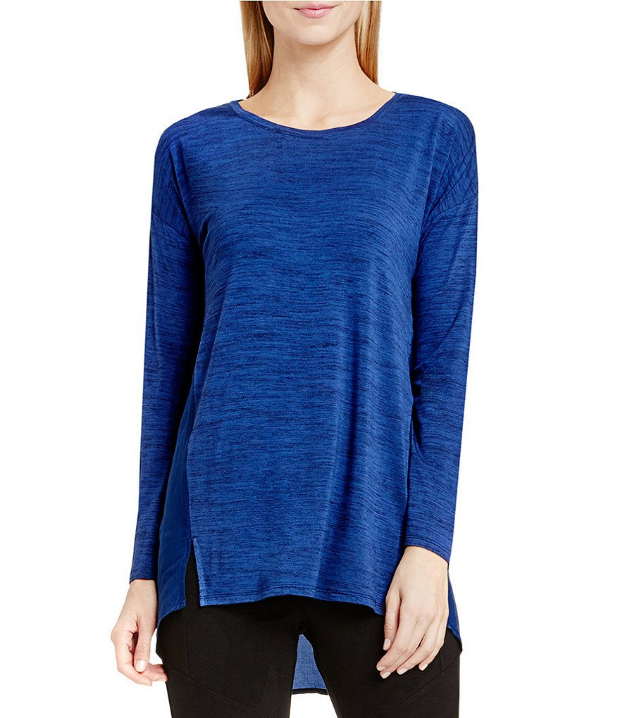 Two by Vince Camuto Slub Space Dye Mix Media Top