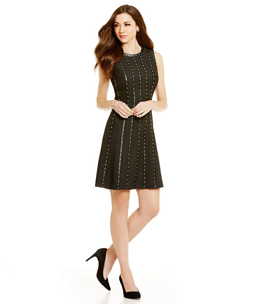Antonio Melani Chae Quilted Faux-Leather Dress