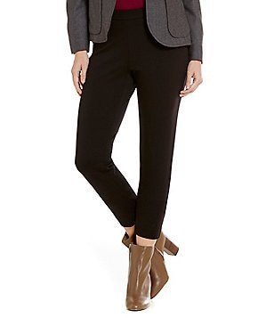 Pendleton Reed Ponte Knit Slim Straight-Leg Ankle Pants