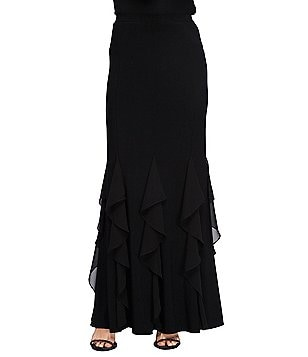 Alex Evenings Corkscrew Maxi Skirt