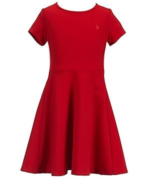 Ralph Lauren Big Girls 7-16 Ponte Skater Dress