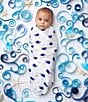 Color:High Seas - Image 2 - Aden + Anais Baby Boys Printed Swaddle Blanket