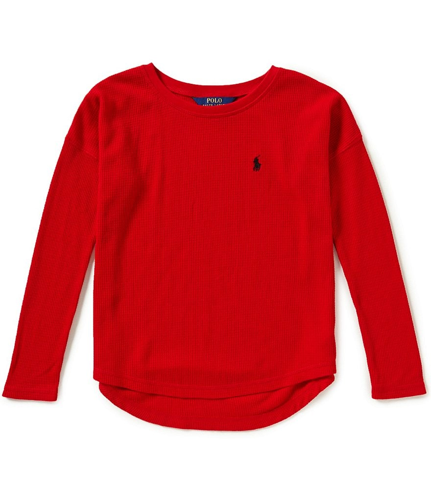 Ralph Lauren Childrenswear Big Girls 7-16 Waffle-Knit Top