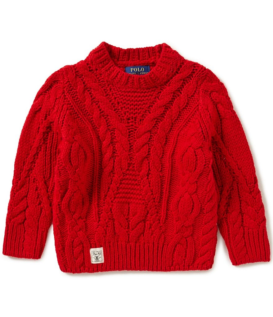 Ralph Lauren Childrenswear Little Girls 2T-6X Cable-Knit Wool-Blend Sweater
