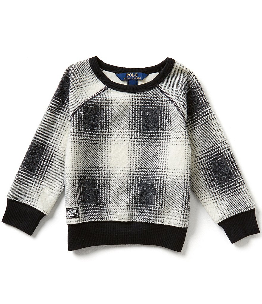 Ralph Lauren Childrenswear Little Girls 2T-6X Bold-Plaid Fleece Shirt
