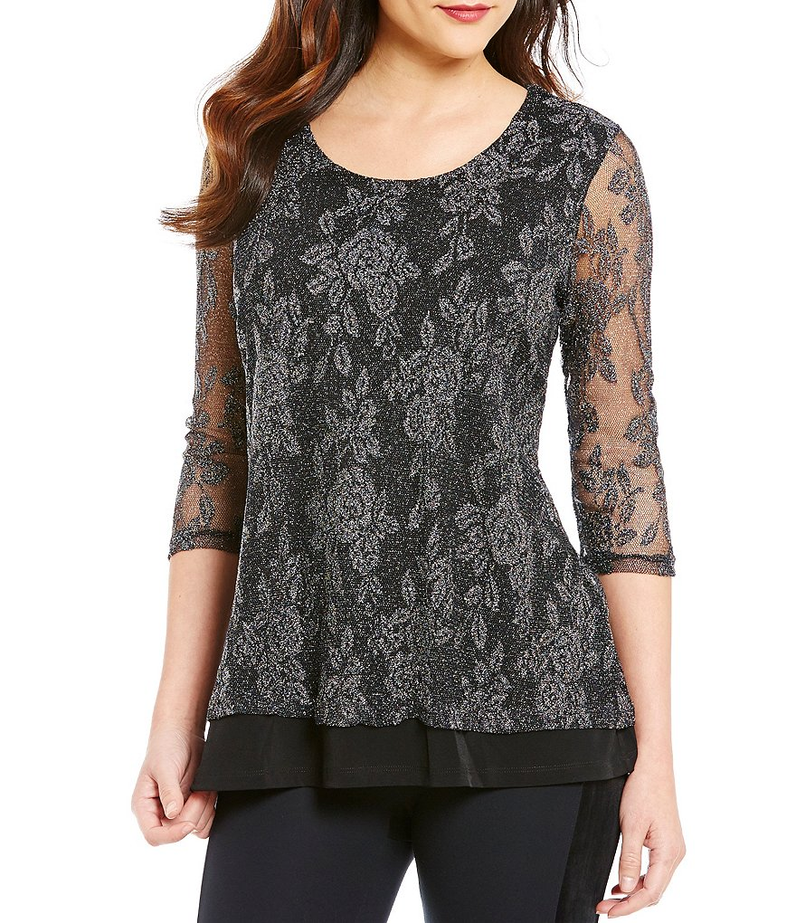 Nicola Lace Double Layer Tunic