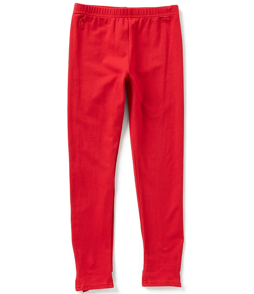 Ralph Lauren Childrenswear Big Girls 7-16 Bow-Back Leggings