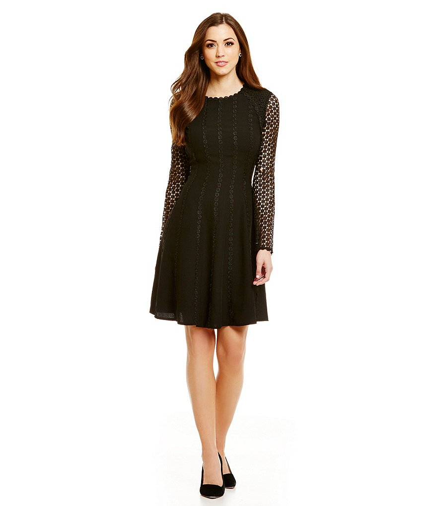 Antonio Melani Effie Crepe/Lace Dress