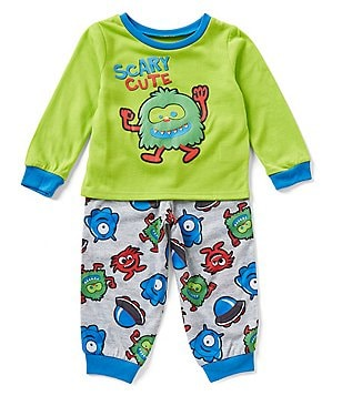Komar Kids Little Boys 2T-4T Scary Cute Monster Pajama Top & Pants Set