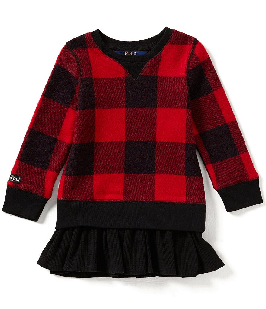 Ralph Lauren Childrenswear Little Girls 2T-6X Large-Plaid Dress