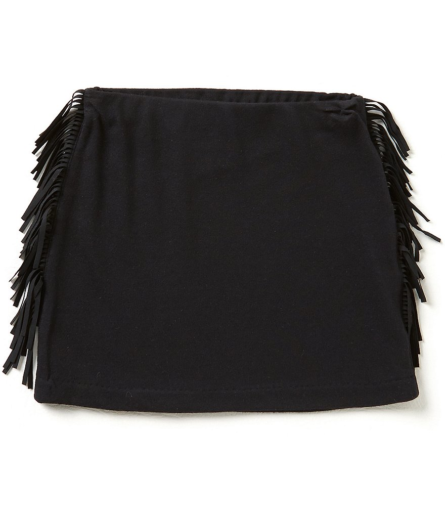 Ralph Lauren Childrenswear Little Girls 2T-6X Fringe-Trimmed Miniskirt