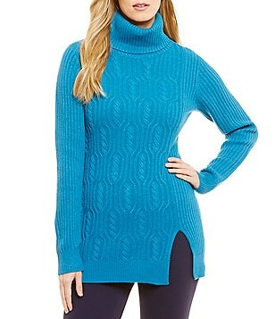 Pendleton Everyday Turtleneck Cable and Ribbed Tunic