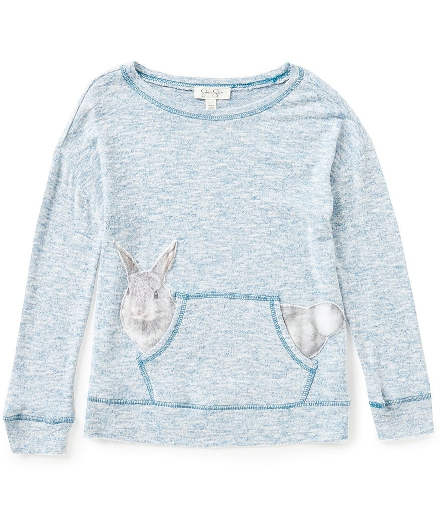 Jessica Simpson Big Girls 7-16 Cinna Bunny Long-Sleeve Top
