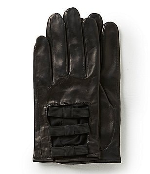 kate spade new york Bow Leather Gloves