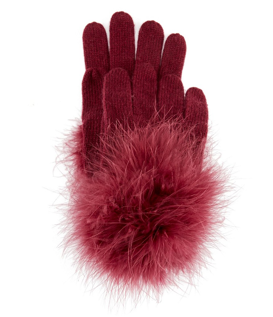 kate spade new york Feather Marabou Pom Gloves