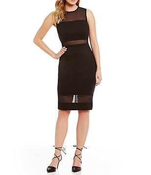 French Connection Lula Mesh Sleeveless Dress