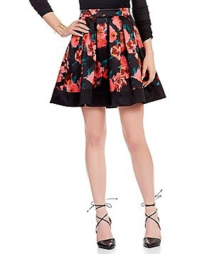 French Connection Floral Allegro Poppy A-Line Skirt