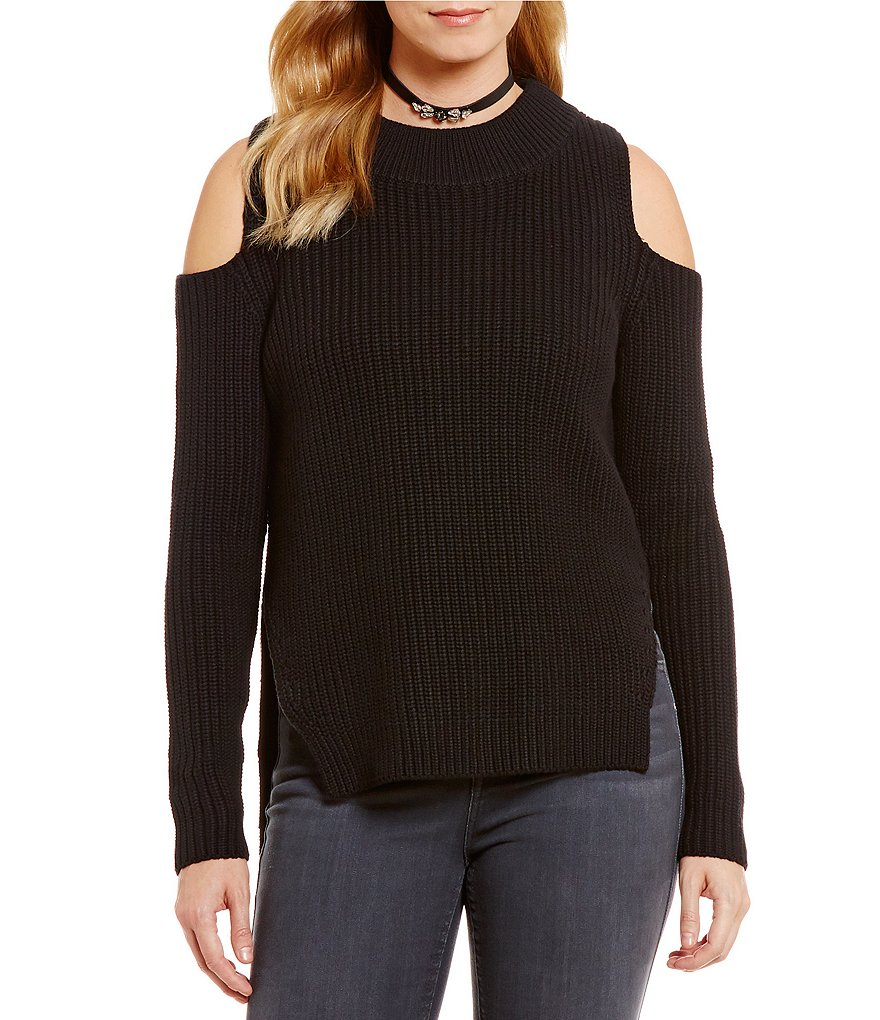 French Connection Mozart Cold Shoulder Solid Sweater