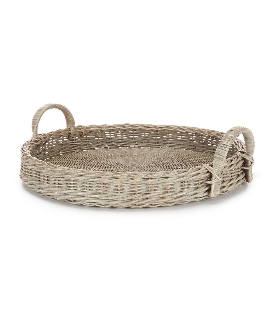 Southern Living Rattan Tray