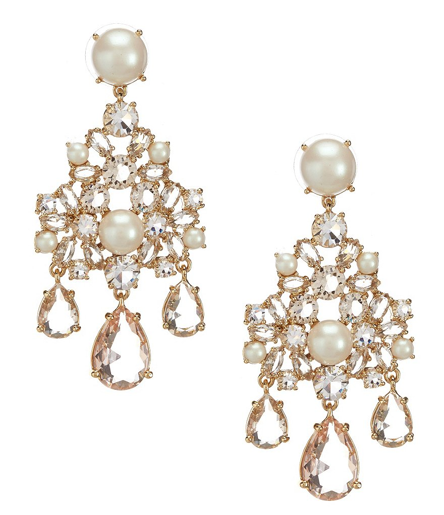 kate spade new york Posy Petals Pearl Flower Chandelier Earrings