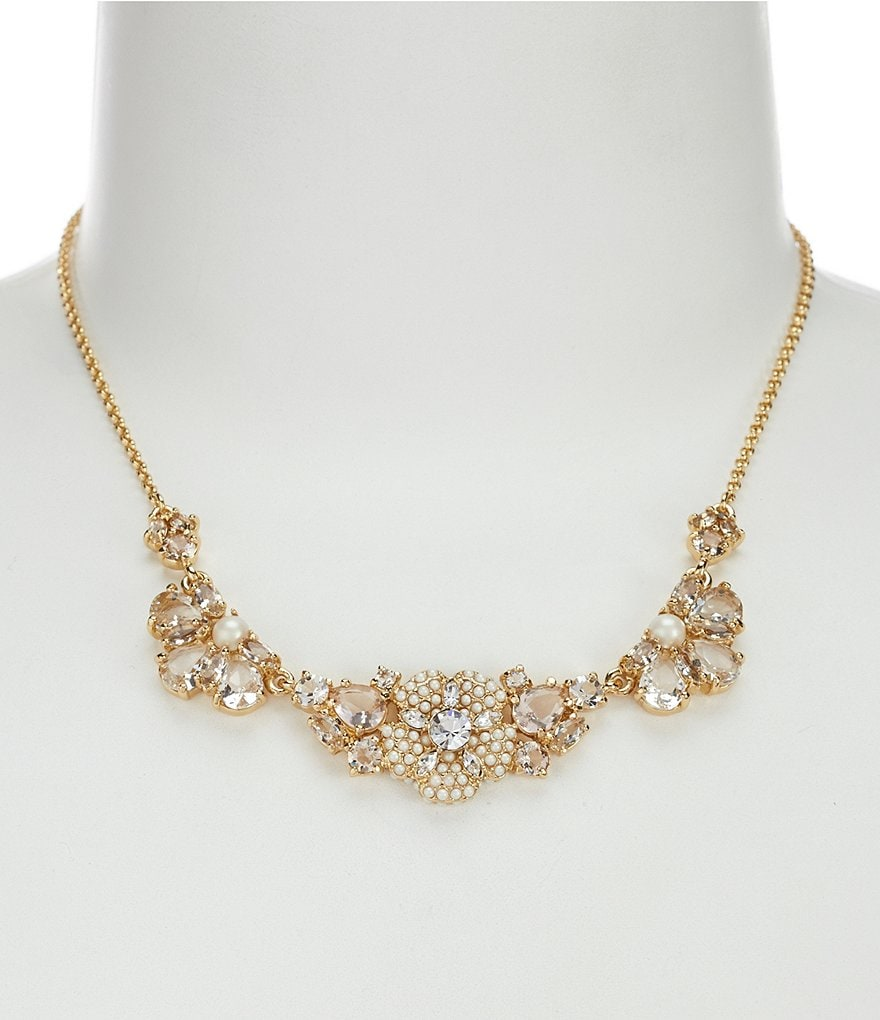 kate spade new york Posy Petals Pearl Flower Collar Necklace