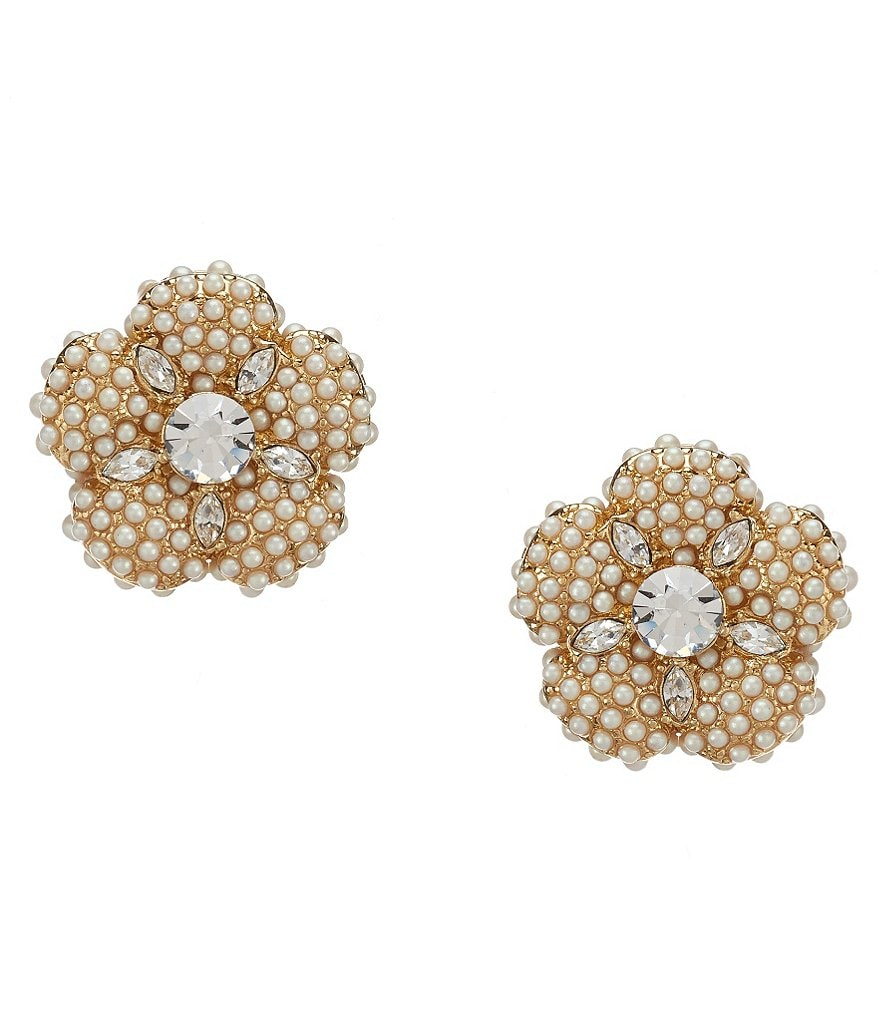 kate spade new york Posy Petals Pearl Flower Stud Earrings