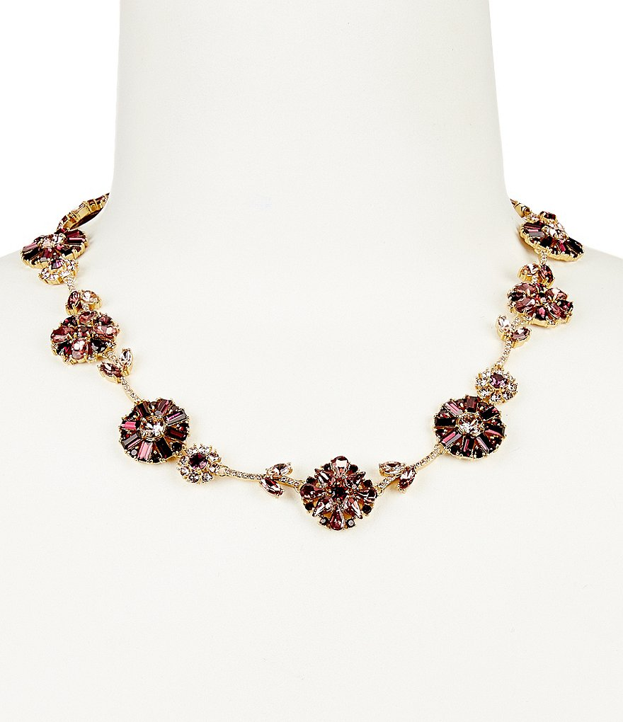 kate spade new york Trellis Blooms Collar Necklace