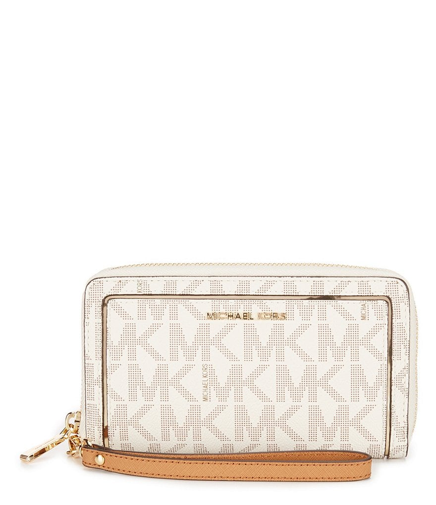 MICHAEL Michael Kors Signature Large Multifunction Flat Phone Wallet
