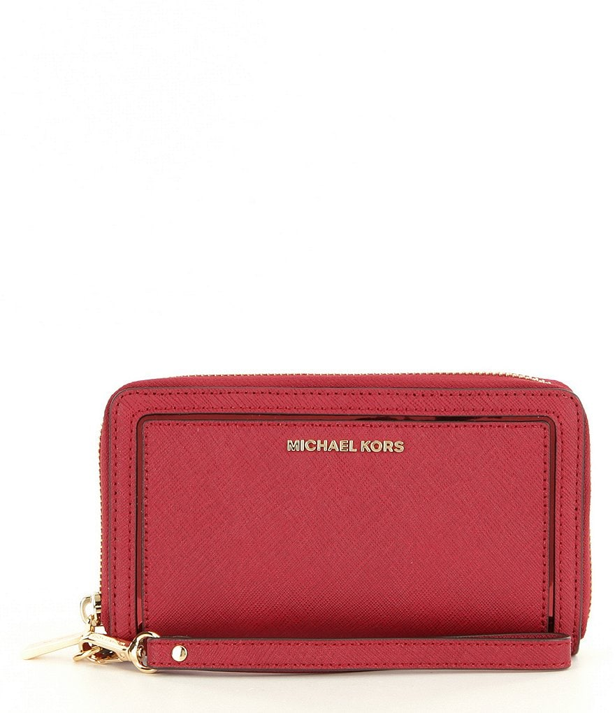 MICHAEL Michael Kors Saffiano Large Multifunction Flat Phone Wallet