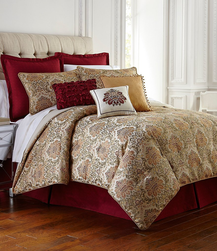 Waterford Beaumont Floral Jacquard Comforter Set