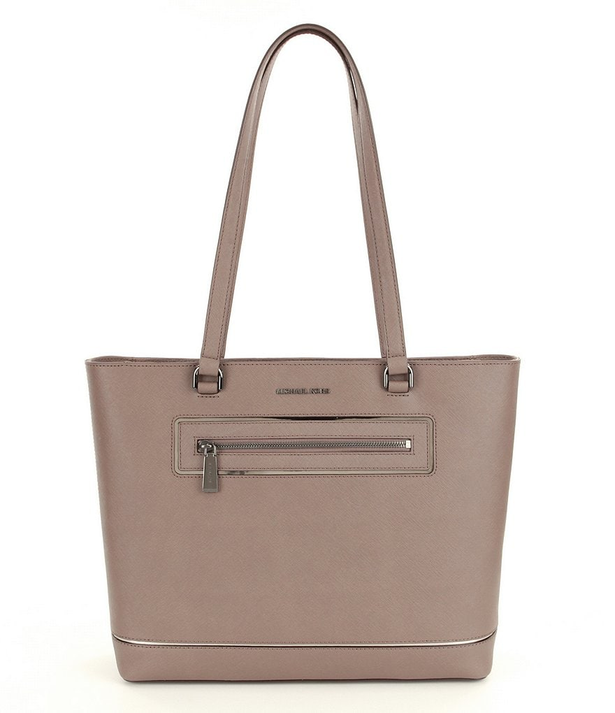 MICHAEL Michael Kors Saffiano Large North/South Laptop Work Tote