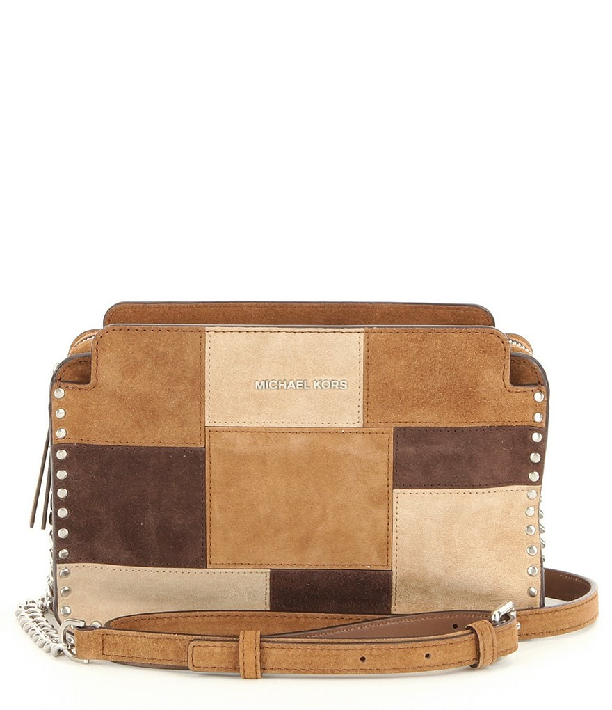 MICHAEL Michael Kors Astor Studded Patchwork Large Cross-Body Bag